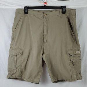 Wrangler Cargo Shorts/Ripstop/Tan/Size: 40 (499)
